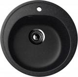 Cumpara ieftin Chiuveta rotunda de bucatarie Ulgran U-101-308 Negru, Compozit
