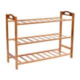 Raft pentru incaltaminte, 3 nivele, 68.5x51x24 cm, din bambus