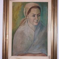 Tablou vechi - Femeia cu batic - L.Pancu (74)