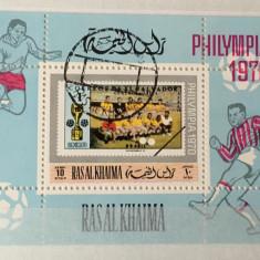 RAS AL KHAIMA,  PHILYMPIA 1970 - COLIŢĂ ŞTAMPILATĂ