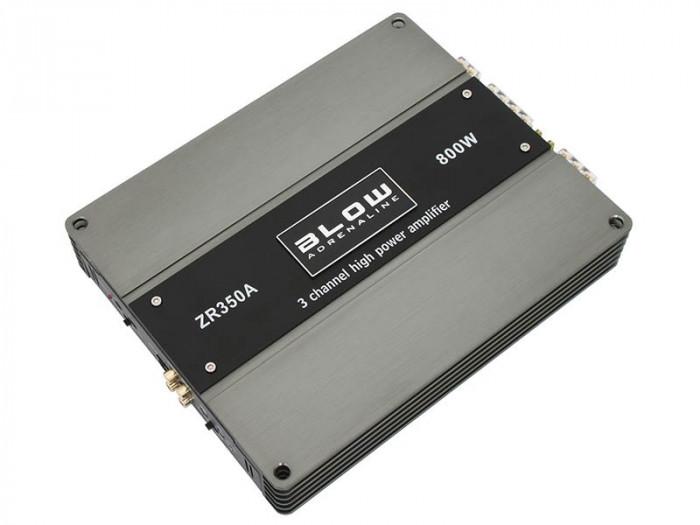 Amplificator Statie Audio Auto Hi-Fi Blow ZR350A cu 3 Canale, Putere 800W
