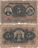 1918 (5 VI), 5 drachmai (P-64a) - Grecia!