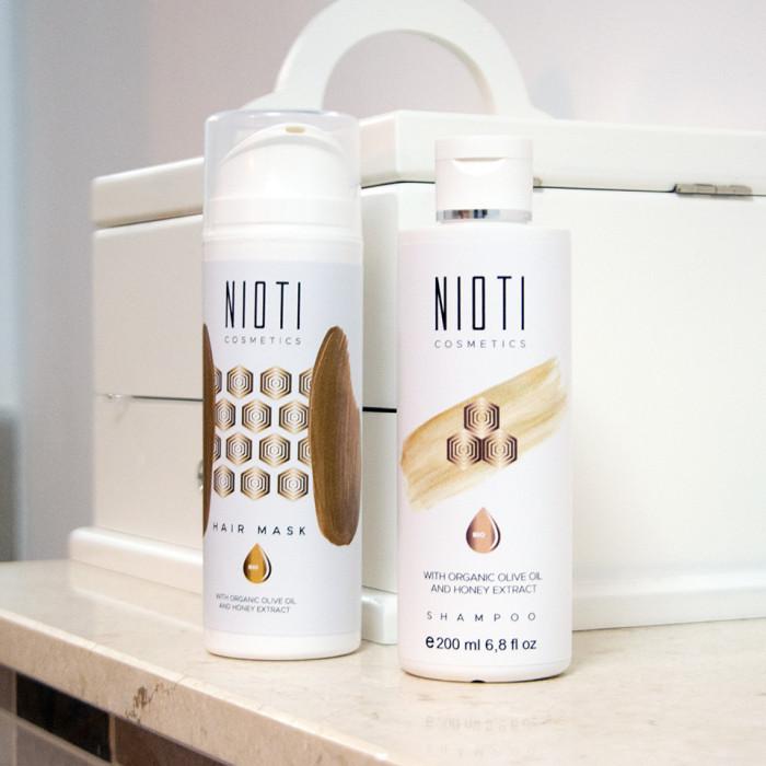 Șampon cu miere și ulei de măsline Nioti, 200ml