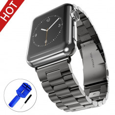 Curea ceas Apple Series 1,2,3, 42mm, otel inoxidabil - negru, BeYself
