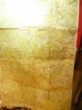 Harta partiala Transilvania: Oradea -Turda-Cluj -litografie 1928 dim.=65x100cm