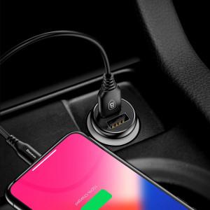 Incarcator Auto Baseus, Gentleman Universal, 2 x USB 4.8A, Negru
