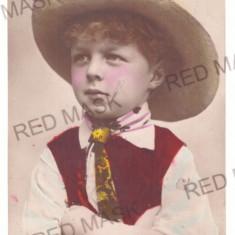 4867 - BRASOV, Ethnic Boy, Romania - old postcard - used - 1902