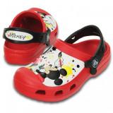 Saboți Copii casual Crocs Mickey Paint Splatter Clog, 30, 32.5, Rosu