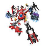 Set de constructie, 6 masini, asamblate se transforma in robot ARES