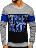 Bluză cu imprimeu bărbați gri Bolf KS1901