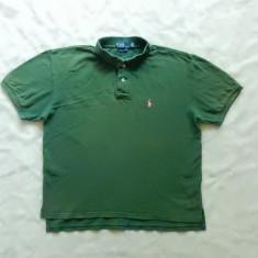 Tricou Polo by Ralph Lauren Custom Fit.  Marime XL: 58.5 cm bust, 63 cm lungime