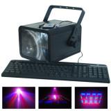 Cumpara ieftin Laser Moon Flower, conexiune PC, 196 LED-uri, 6 canale DMX