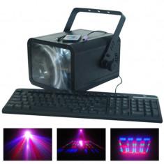 Laser Moon Flower, conexiune PC, 196 LED-uri, 6 canale DMX
