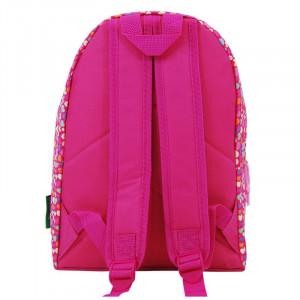 Rucsac pentru fete Hearts United Colors of Benetton, 25 x 11 x 31 cm, model inimi