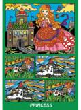 Cutie de colorat pe carton absorbant - Printesa