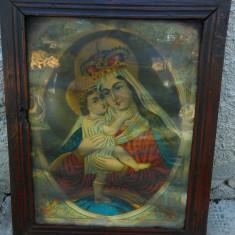 Icoana veche catolica litografie  st. Marie