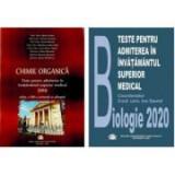 Pachet admitere universitatea Carol Davila 2019-2020: Teste grila pentru Chimie organica si Biologie