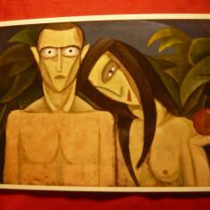 Ilustrata dupa Pictura de Victor Brauner- Adam si Eva , necirculat