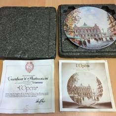 Farfurie -  port. frantuzesc - Limoges - 1982 - certificat - Opera