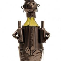 Suport pentru Sticla Vin model Barman Metal Lucios Capacitate 1 Sticla H 38 cm