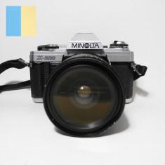 Minolta X-300 cu obiectiv Auto Makinon MC 28-70mm f/3.5-4.5