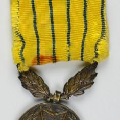 Medalia regalista Rasplata serviciului militar XV ani, panglica originala