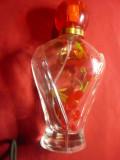 Sticla de Parfum  cu floare in interior  ,h=14cm