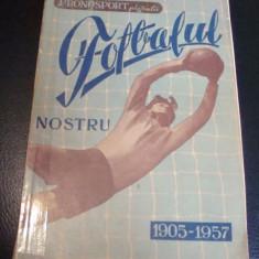 Pronosport prezinta Fotbalul nostru 1905-1957