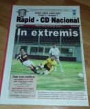 Program Fotbal Rapid Nacional Madeira 2006 UEFA Cup bilet Romania