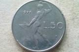 MONEDA 50 LIRE 1977-ITALIA, Europa