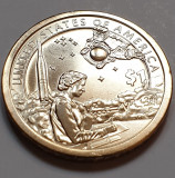Monedă 1 Dollar 2019 USA Sacagawea, American Indians Space Program, unc, America de Nord