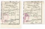 România, Administrația moșiei B. germ. Câmpulung, lot 2 chitanțe, 1942