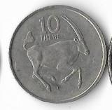 Moneda 10 thebe 1989 - Botswana