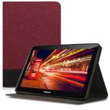Husa pentru Samsung Galaxy Tab 2 10.1 P5100, Textil, Rosu, 41184.03