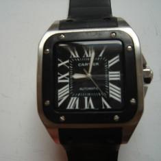 Ceas Cartier Santos Black REPLICA, automatic, defect, Lux - elegant, Mecanic-Automatic, Inox