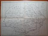 Harta principatele unite in 1859 - perioada unirii - din perioada comunista