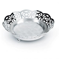 Bol placat cu argint Sera Alioth lacy bread basket by Chinelli made in Italy