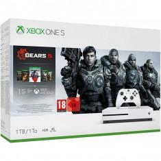 Consola MICROSOFT Xbox One S 1TB, alb + joc Gears 5, include toate jocurile din seria Gears of War (coduri download)