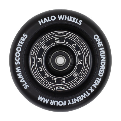Roata trotineta Slamm 110mm Halo Deep Dish Black + Abec 9 foto