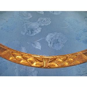 A638-Rama mare ovala veche anii 1900 Franta din lemn masiv aurit stare buna.