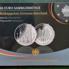 Moneda tematica de argint - 20 Euro 2016, Germania - Proof