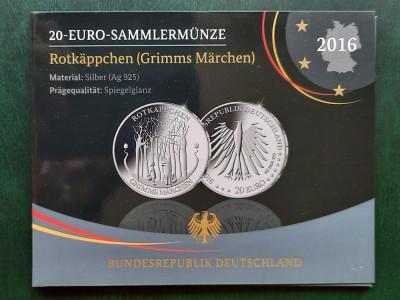 Moneda tematica de argint - 20 Euro 2016, Germania - Proof foto