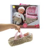 Papusa bebe Toi-Toys Lovely Baby 32 cm cu landou