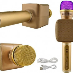 Microfon Karaoke fara fir, functie Wireless cu difuzor, redare mp3 si suport Bluetooth