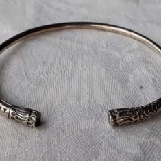 BRATARA argint TUAREGA TRIBALA vintage REGLABILA de efect VECHE splendida