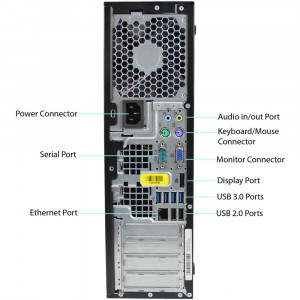 GARANTIE! PC HP 6300 Pro SFF i7 3770 3.4GHz 4GB SSD 120GB HDD 500GB DVD-RW DP