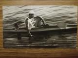 1966, Foto originală Aurel Vernescu, semifinală Grunau - Berlin, caiac canoe