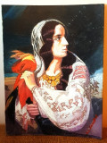 Tablou vechi reproducere pictor roman Rosenthal-tatanaca ie pictura carton