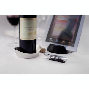Set 3 accesorii de vin, XD by AleXer, AO, otel inoxidabil, abs, argintiu, breloc inclus din piele ecologica si metal