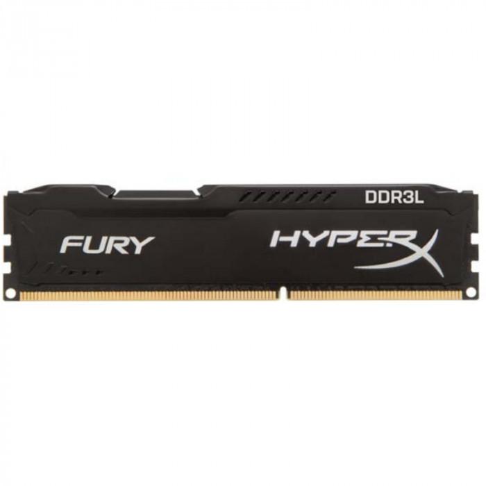 Memorie HyperX Fury Black 8GB DDR3L 1600MHz CL10 1.35V